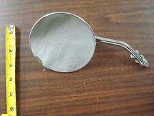 CHROME LEFT SIDE ROUND MIRROR FOR HARLEY DAVIDSON 1965 & UP