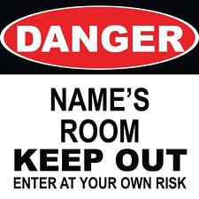 "Danger Room Keep Out Sign 8"" x  8"""