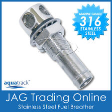 """316 STAINLESS STEEL STRAIGHT FUEL BREATHER VENT 16mm 5/8"""" - Boat/Car/Gas Tank"""