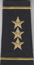 2  Police Chief/Sheriff  Epaulet THREE (3) STARS Shoulder Boards Gold on Black