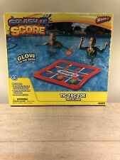 Splash N Score Tic Tac Toe Inflatible Pool Toy Glow In The Dark New Wham-o