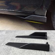 2x Universal Car Rear Side Skirt Moulding Splitters Rocker Wings Diffuser Black
