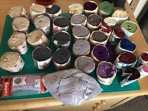 Mixed joblot Patons, Redicut, Bairnswear Blue Fex 100% Wool Rug Wool.