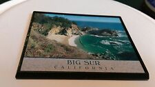 Vintage Refrigerator magnet Big Sur California Frame Ocean Rocks Cliffs Beach CA