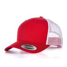 Flexfit Mesh Snapback Cap Plain Baseball Retro Trucker Golf Era Peak Hat 6606