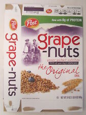 Empty POST Cereal Box GRAPE-NUTS 2013 24 oz [G7C6o]