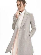 Banana Republic Long Wrap Wool Coat Sz 12 Gray (317)