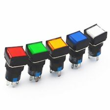 Drucktaster Druckschalter Druckknopf LED Taster Self-Zurücksetzen/Sperren 16mm