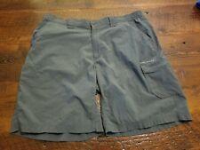 Mens Size 38 Gray Columbia PFG Nylon Fishing Outdoor Shorts EUC