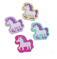 Pack of 12 - Unicorn Erasers - Party Bag Fillers