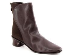 New St John's Bay Women Brn Leather Comfort Ankle Heel Back Zip Boot Shoe Sz 7 M