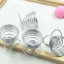 Metal Egg Cup Spiral Hard Boiled Spring Holder Egg Breakfast Kitchen Cups Y9L6