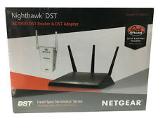 NETGEAR Nighthawk DST AC1900 Wireless-AC Gigabit Router w/DST Adapter Black New!