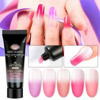 5 PCS MEET ACROSS Color Change Builder Gel Nail Art Tip Extension UV Poly UV Gel