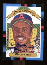 Devon White Signed 1988 Donruss Diamond King Autographed Angels 37538