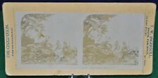 Antique Stereoview Card - No.3 Flight Into Egypt - From The Passion Play