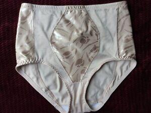 Vintage Hanes Her Way Shaper Panty Floral Satin Panel Rear Seam Size XL