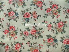 Kingswood Rose Off White Cath Kidston Cotton Duck Fabric 1 M x 144cm