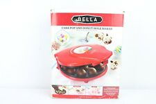Bella Cake Pop and Donut Hole Maker Red In Box Used Makes 12 Cake Pops