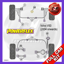 Volvo V50 04on Early FrArm FrCamb 14mm, FrArm RrNoLift+Caster Powerflex Full Kit