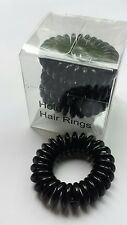 Hold It Hair Rings 4cm Spiral Stretchy Bobbles Hair Bands 3x4cm Black