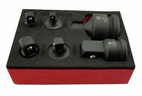 BRITOOL HALLMARK 6pce AIR IMPACT SOCKET CONVERTOR SET IN FOAM HOLDER