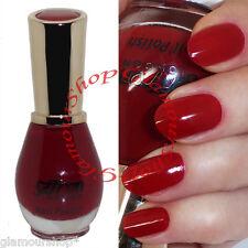 Glossy DARK RED Nail Polish Varnish by Saffron London #41 Dynamic Red