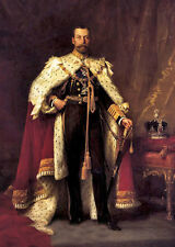 Handpainted Oil painting male portrait George V of the united Kingdom on canvas