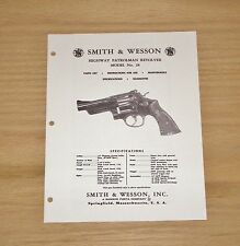 Smith & Wesson .357 Magnum Model 28 Revolver Manual - #SW6