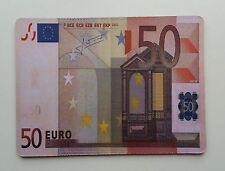 GRAND TAPIS DE SOURIS EN FORME DE BILLET DE 50€, NEUF
