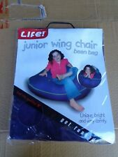 """BEAN BAG """"BRAND NEW"""" JUNIOR WING CHAIR LIFE BRAND PURPLE (BEANS NOT INCLUDED)"""