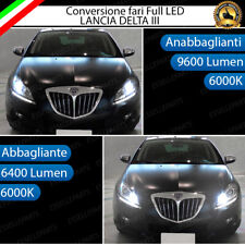 CONVERSIONE FARI FULL LED LANCIA DELTA III  6000K 16000 LUMEN LED CANBUS
