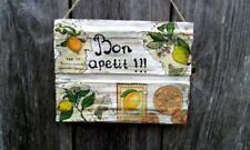 Lemons Wood signs Country kitchen Bar Rustic Home Decor Handmade Lemon wall art