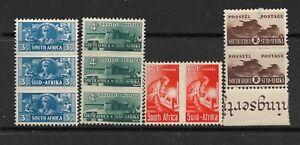 1942-44 SOUTH AFRICA , SG101.102.103.104 CAT £52 RARE