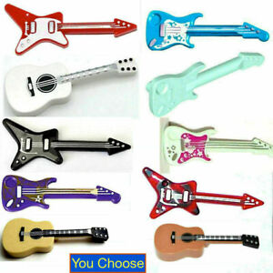 Lego Guitar Electric Acoustic Flying V Rock Music Minifigure Stratocaster