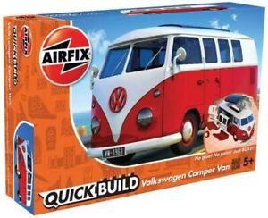 Airfix J6017 VW Camper Bully, Rouge, Modèle Auto, Quick Build - Rupture