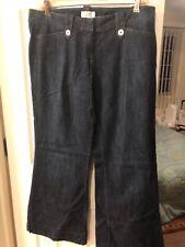 Size 8 Ann Taylor Loft wide leg jeans dark wash