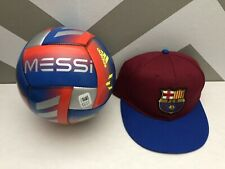 Lionel Messi Adidas Soccer Ball + Barcelona Hat