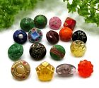COLORFUL LOT OF DIMINUTIVE GLASS BUTTONS