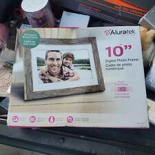 "Aluratek 10"" Distressed Wood Digital Photo Frame with Auto Slideshow, 1024 x ..."
