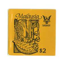 Malaysia 1987 Sabah Agriculture Produce Stamp Booklet 4 Values in Block/4 MUH