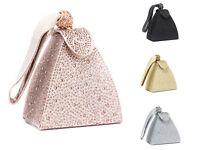 Womens Small Shiny Wedding Party Bridal Prom Evening Bag Clutch Handbag Purse