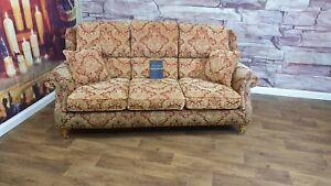 PARKER KNOLL HENLEY 3 SEATER SOFA IN BALENCIAGA  ANTIQUE RED RRP £1950