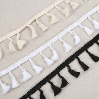 5Yard Tassel Lace Trim Ribbon Edge DIY Clothing Wedding Dress Sewing Craft Decor