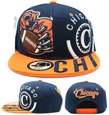 Chicago New Leader Monster Grizzly Claw Bears Blue Orange Era Snapback Hat Cap