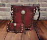 Montana West Lacing Purse Matching Wallet Country Western Crossbody Bag