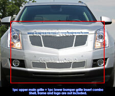 Fits 2010-2015 Cadillac SRX Stainless Steel Mesh Grill Insert Combo Pack