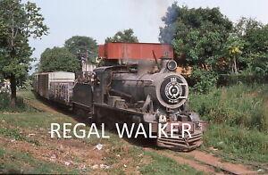 ORIGINAL 35MM PARAGUAY RAILWAY SLIDE STEAM LOCO FCPAL 151 ENCARNATION AREA 1986
