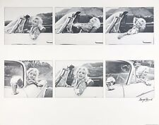 "Marilyn Monroe lithograph, signed and numbered, George Barris, ""In Her Car"""