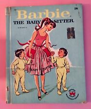 Vintage Barbie Book THE BABBY SITTER W/washable covers 1964